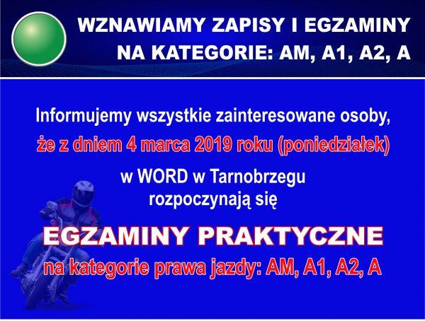 Info wznowienie kat AM A 2019